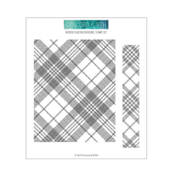 Woven Plaid Background, Concord & 9th Clear Stamps - 902224007400