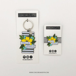 Hello Lovely, Concord & 9th Enamel Keychain - 902224006038