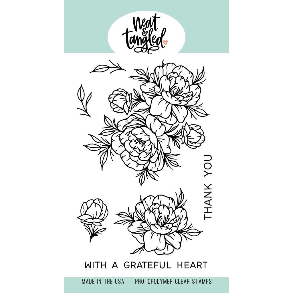 Grateful Heart, Neat & Tangled Clear Stamps - 817360023453