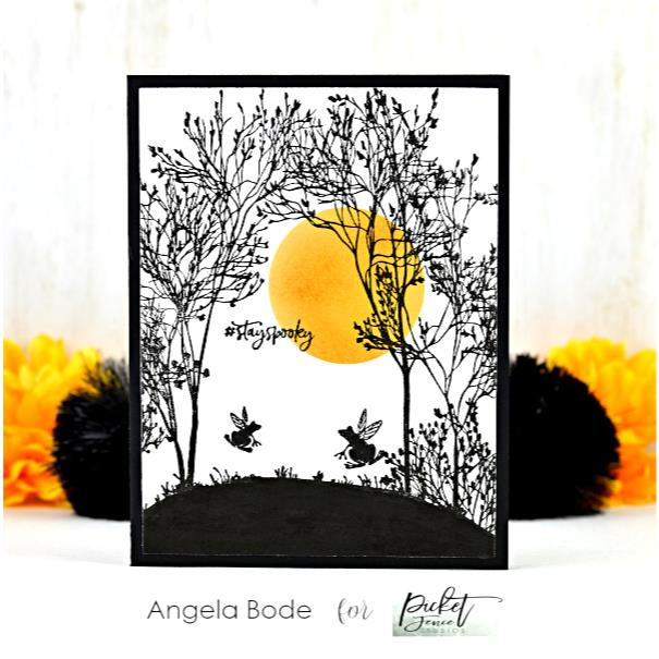 On An Autumn Countyside, Picket Fence Studios Clear Stamps - 745557997365