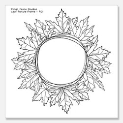 Leaf Picture Frame, Picket Fence Studios Clear Stamps - 745557997969