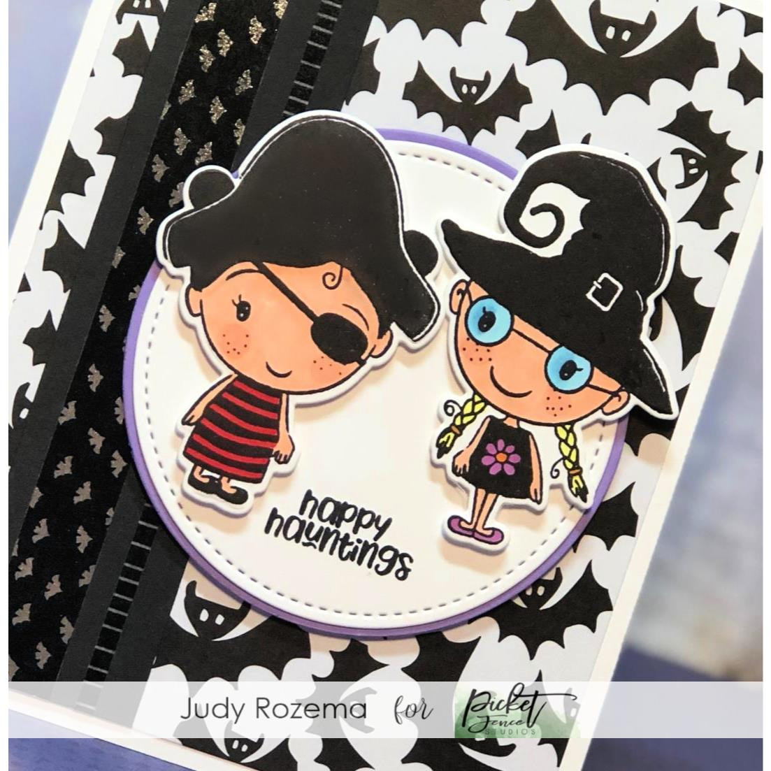 Trick Or Treaters, Picket Fence Studios Clear Stamps - 745557997952