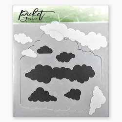 Layers Of Clouds, Picket Fence Studios Stencils - 745557002761