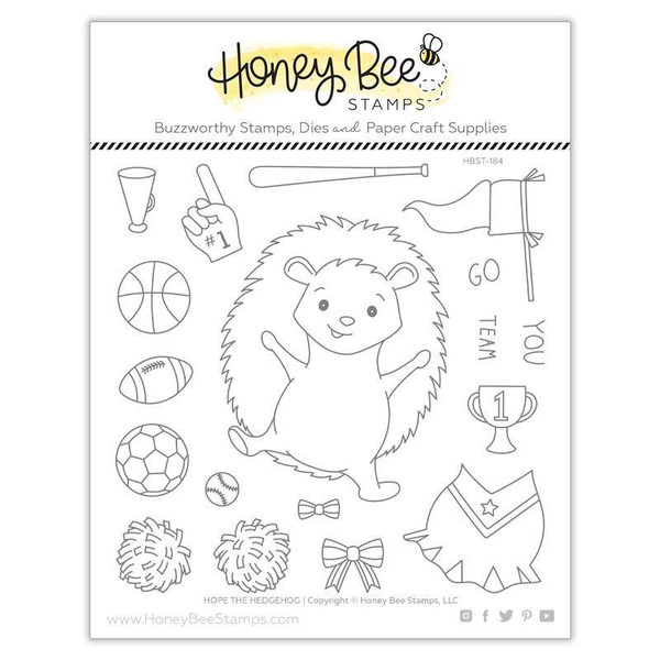 Hope The Hedgehog, Honey Bee Clear Stamps - 652827605502