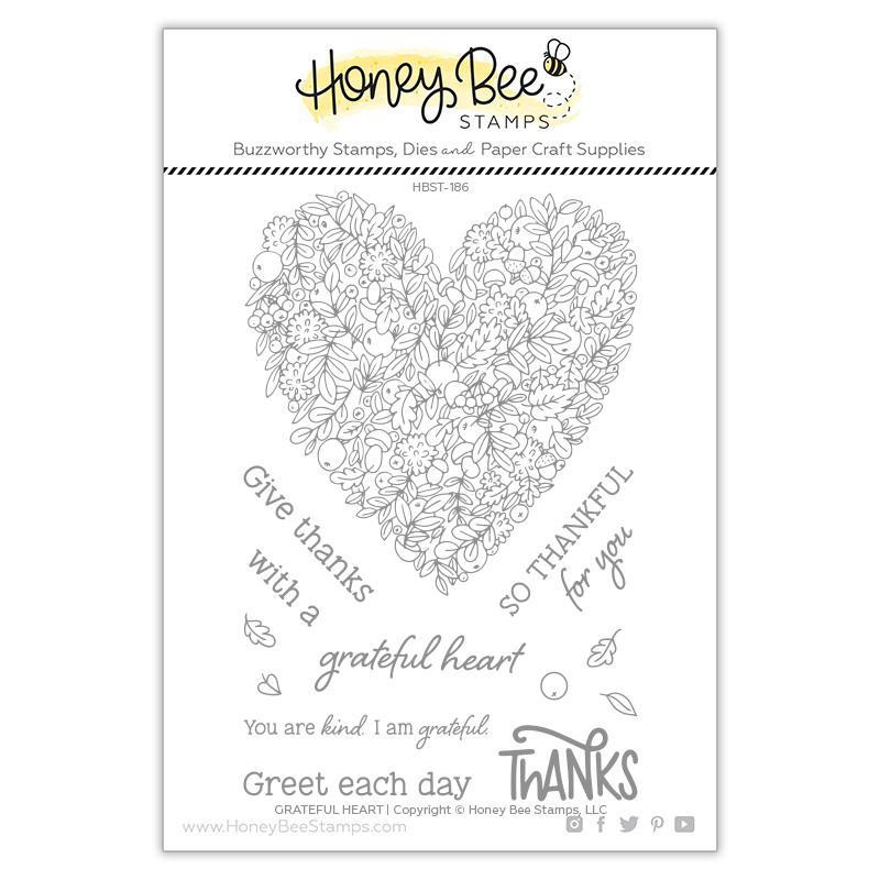 Grateful Heart, Honey Bee Clear Stamps - 652827605526