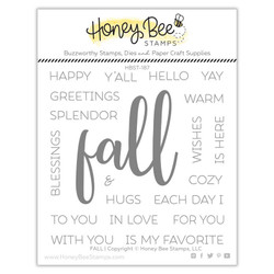 Fall, Honey Bee Clear Stamps - 652827605533