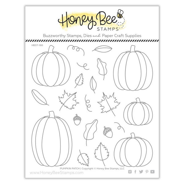 Pumpkin Patch, Honey Bee Clear Stamps - 652827605540