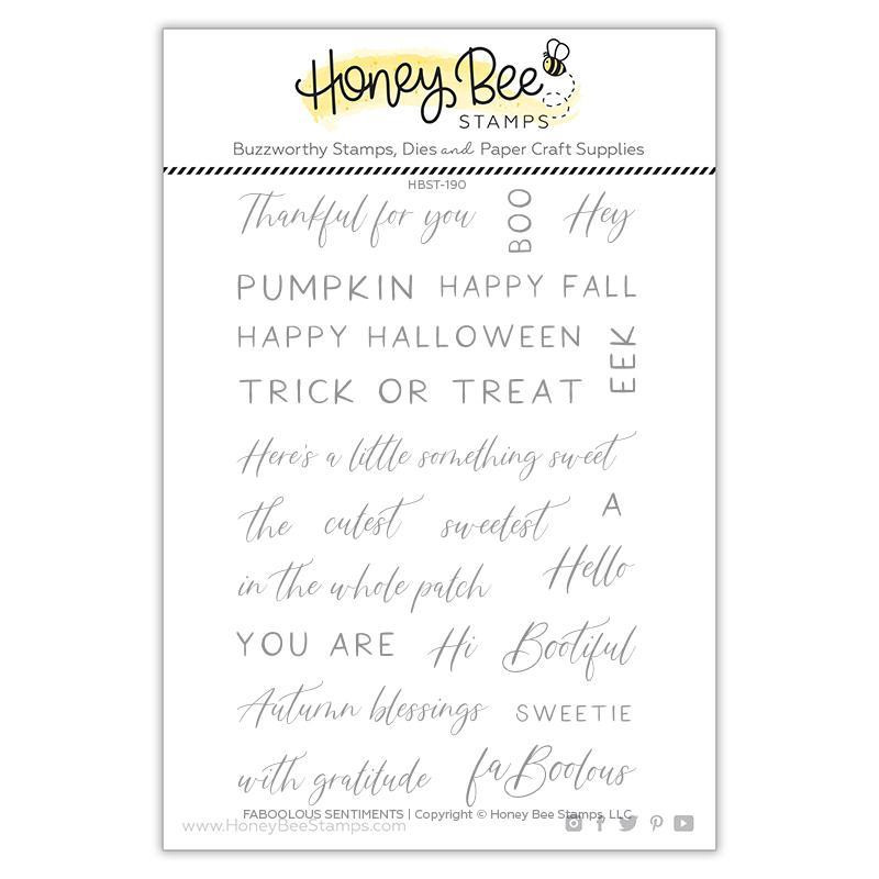 Faboolous Sentiments, Honey Bee Clear Stamps - 652827605595