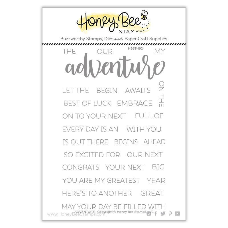 Adventure, Honey Bee Clear Stamps - 652827605618