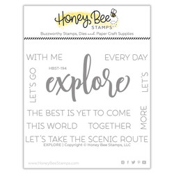Explore, Honey Bee Clear Stamps - 652827605632
