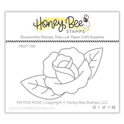 Tattoo Rose, Honey Bee Clear Stamps - 652827605731