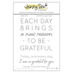 Grateful Each Day, Honey Bee Clear Stamps - 652827605748