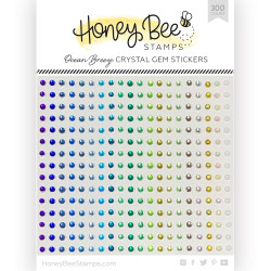 Ocean Breeze Crystal Gems, Honey Bee Stickers - 652827605564