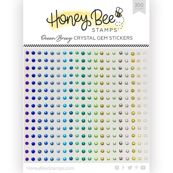 Ocean Breeze Crystal Gems, Honey Bee Stickers - 652827605564