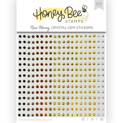 Raw Honey Crystal Gems, Honey Bee Stickers - 652827605588