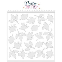 Autumn Leaves, Pretty Pink Posh Stencils -