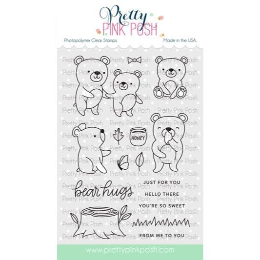 Bear Friends, Pretty Pink Posh Clear Stamps -