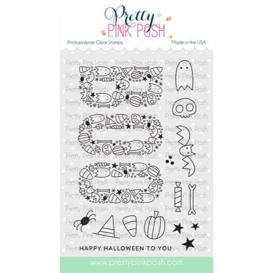 Boo, Pretty Pink Posh Clear Stamps -