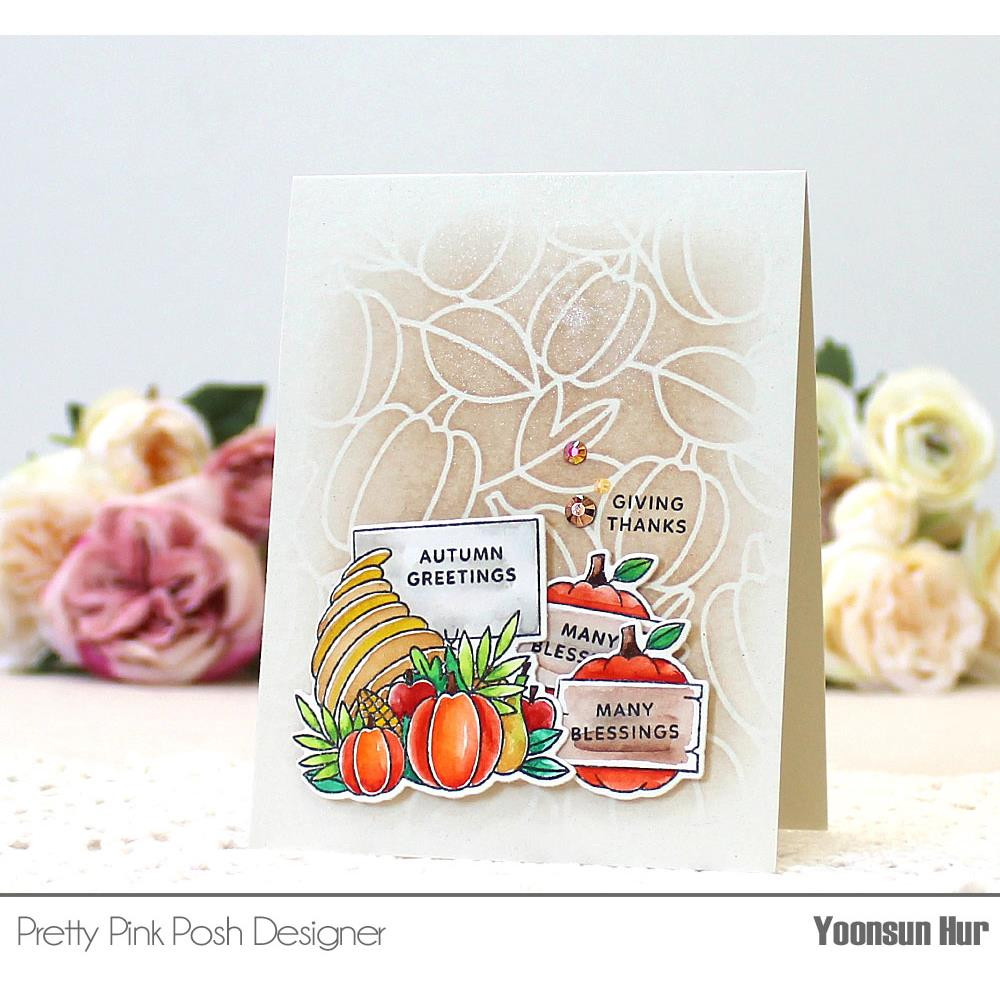 Fall Signs, Pretty Pink Posh Clear Stamps -