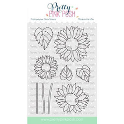 Sunflowers, Pretty Pink Posh Clear Stamps -