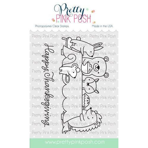 Thanksgiving Scene, Pretty Pink Posh Clear Stamps -