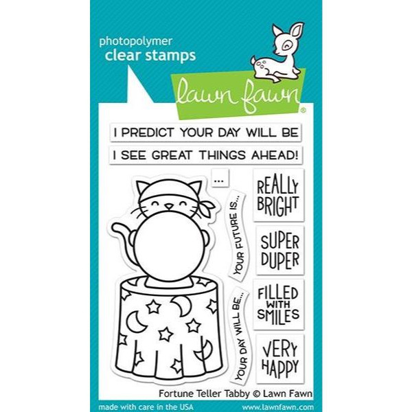 Fortune Teller Tabby, Lawn Fawn Clear Stamps - 035292673151