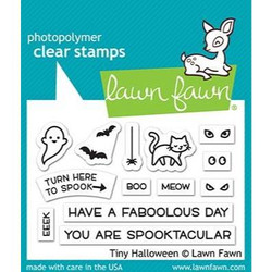 Tiny Halloween, Lawn Fawn Clear Stamps - 035292673182