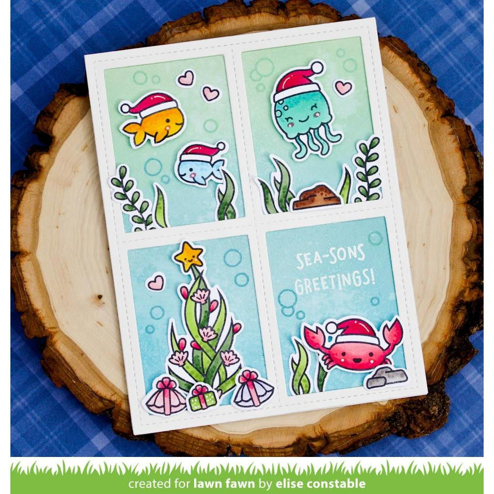 Christmas Fishes, Lawn Fawn Clear Stamps - 035292673243