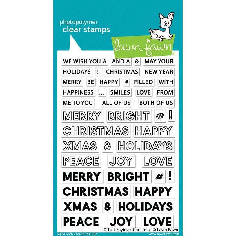 Offset Sayings: Christmas, Lawn Fawn Clear Stamps - 035292673267