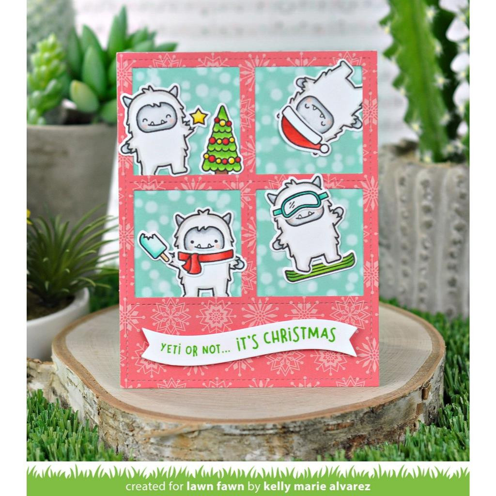 Yeti Or Not, Lawn Fawn Clear Stamps - 035292673274