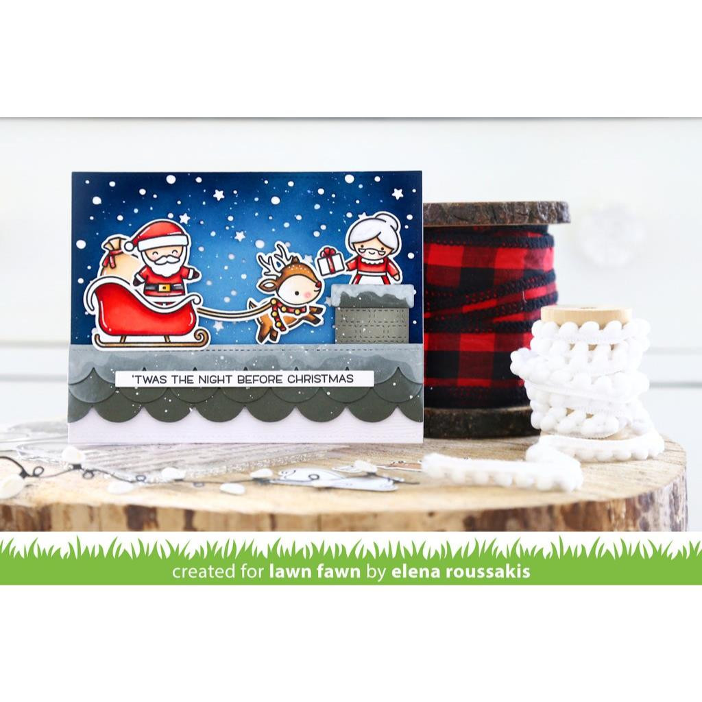 Ho-Ho-Holidays, Lawn Fawn Clear Stamps - 035292673298