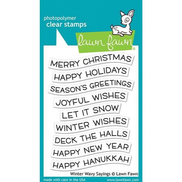Winter Wavy Sayings, Lawn Fawn Clear Stamps - 035292673373