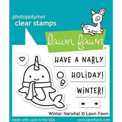 Winter Narwhal, Lawn Fawn Clear Stamps - 035292673380