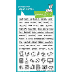 Plan On It: School, Lawn Fawn Clear Stamps - 035292673403