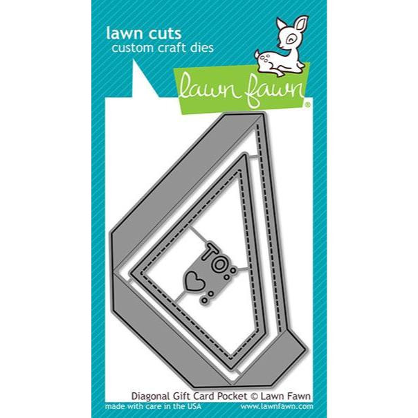 Diagonal Gift Card Pocket, Lawn Cuts Dies - 035292673458