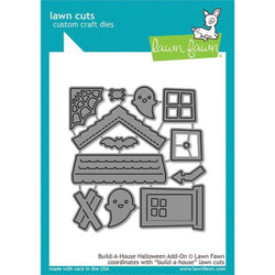 Build-A-House Halloween Add-On, Lawn Cuts Dies - 035292673472