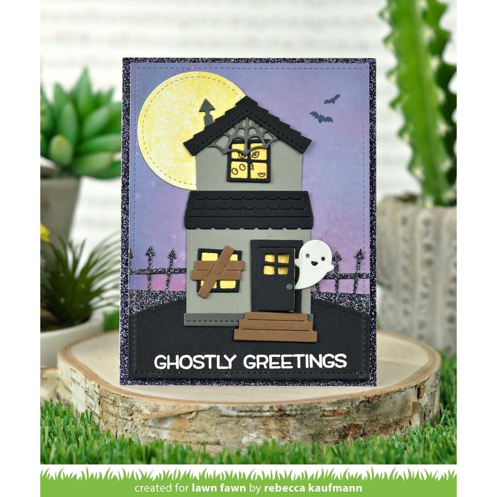 Build-A-House Halloween Add-On, Lawn Cuts Dies - 035292673472