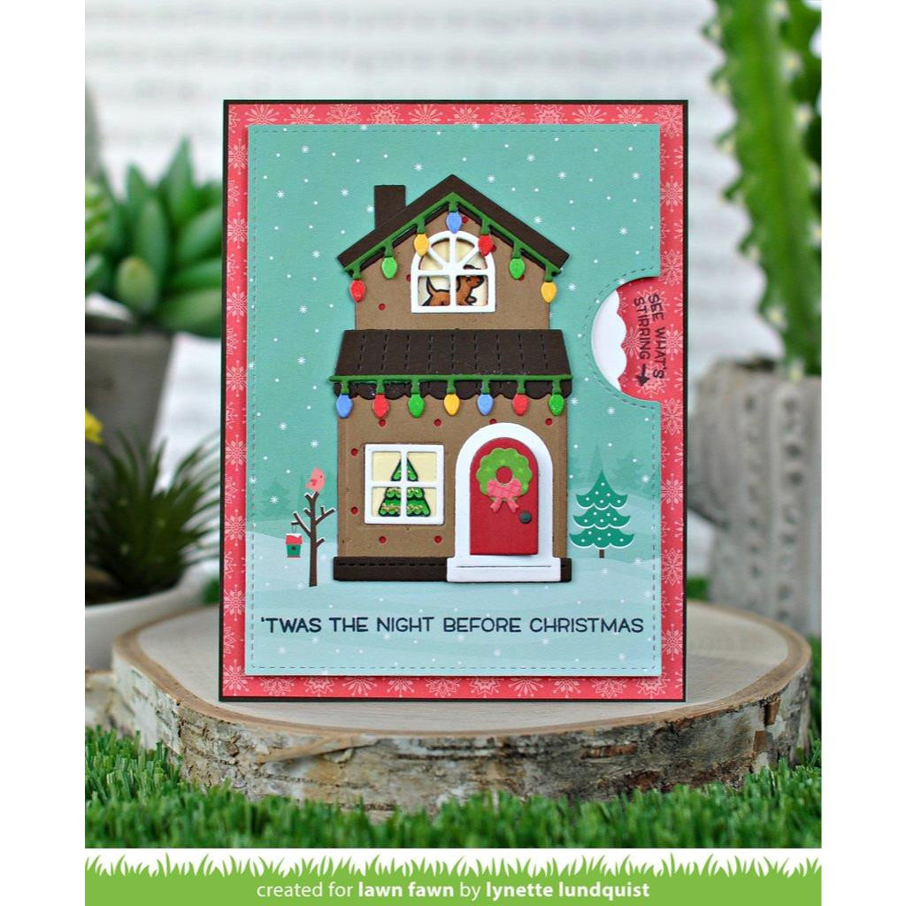 Build-A-House Christmas Add-On, Lawn Cuts Dies - 035292673489