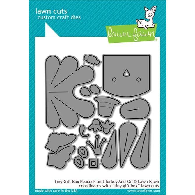 Tiny Gift Box Peacock And Turkey Add-On, Lawn Cuts Dies - 035292673519