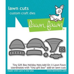 Tiny Gift Box Holiday Hats Add-On, Lawn Cuts Dies - 035292673526