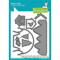 Shadow Box Card Mountain Add-On, Lawn Cuts Dies - 035292673557