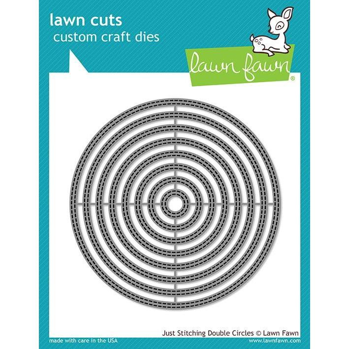 Just Stitching Double Circles, Lawn Cuts Dies - 035292673663