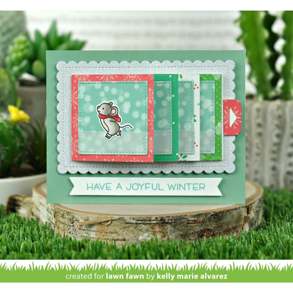 Snow Day Remix, Lawn Fawn Petite Paper Pack - 035292673830