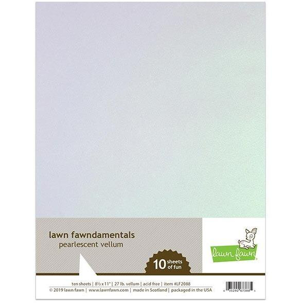 Pearlescent Vellum, Lawn Fawn Specialty Paper - 035292673885