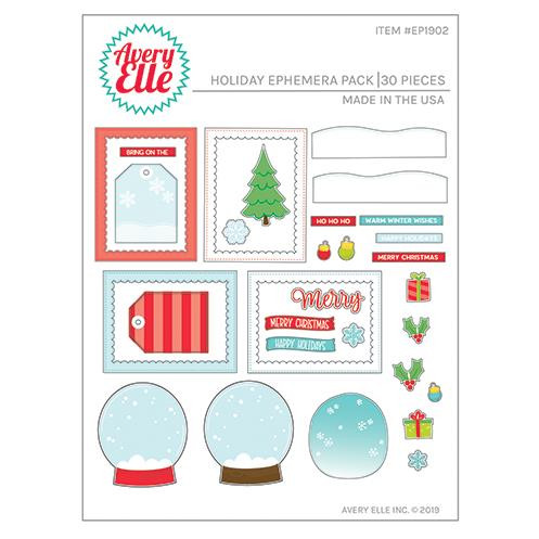 Holiday Ephemera Pack, Avery Elle Embellishments - 811568028142