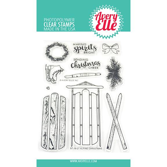 Alpine Christmas, Avery Elle Clear Stamps - 811568027893