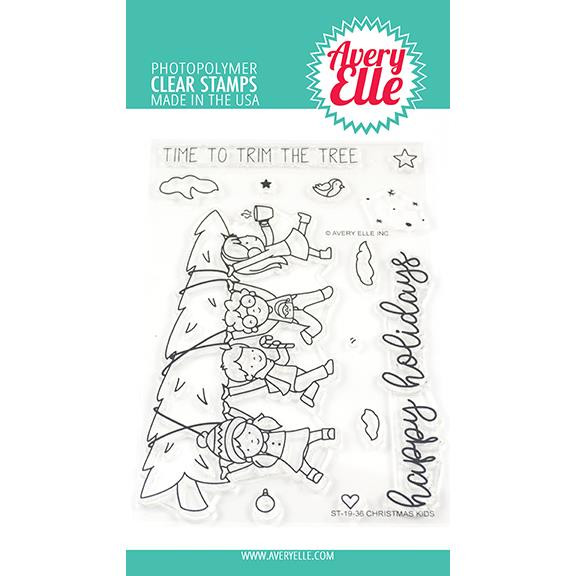 Christmas Kids, Avery Elle Clear Stamps - 811568028081