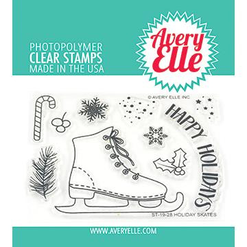 Holiday Skates, Avery Elle Clear Stamps - 811568027923