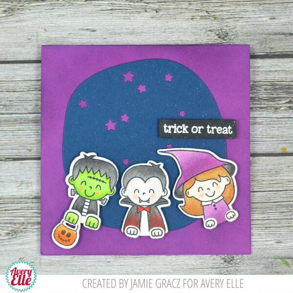 Peek-A-Boo Pals: Spooktacular, Avery Elle Clear Stamps - 811568028012