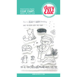 Santa Bear, Avery Elle Clear Stamps - 811568028098